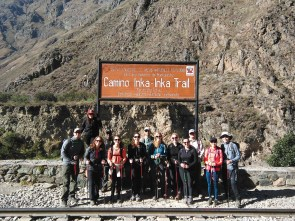 Our group at the start of the Inca Trail