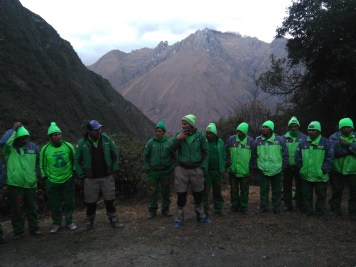 """Our """"Green Machine"""" porters"""