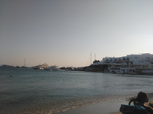 View from Platis Gialos beach, Mykonos