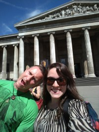 Travis and I in front of the British Museum
