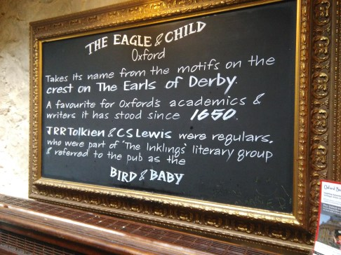 JRR Tolkien & CS Lewis met here every Tuesday for decades
