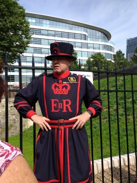 Our friendly Beefeater guide