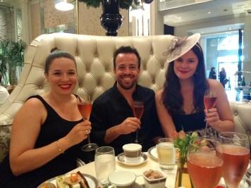 Enjoying champagne with Eric & Kirsten