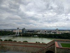 Views of new Bratislava, the Soviet-inspired side