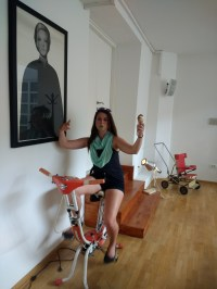 Kelly on a bike...