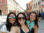 Leah, me and Kelly in Novi Sad