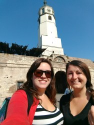 Kelly and I in front of the fortress
