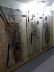 Military museum, depicting Serbian warriors