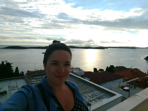 Pretty sunset over Hvar