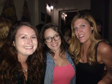 Best roomies at Willy's puppy fundraiser. Kelly, me, Arestia