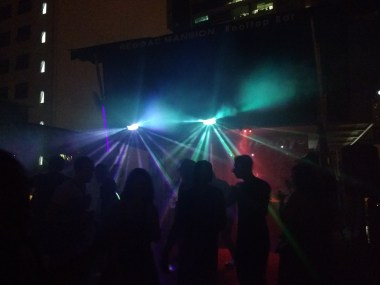 Dancing the night away at Reggae Mansion