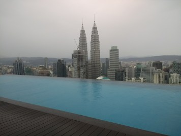 Our view from our KL hotel