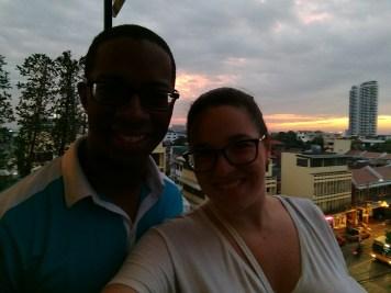 Last drinks in Bangkok. Bye Sean!