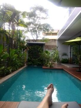 Hanging at the pool - Kampot