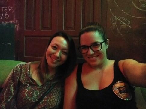 Bar hopping - Melissa and me