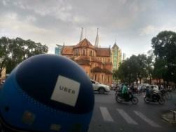 Uber moto'ing around Saigon