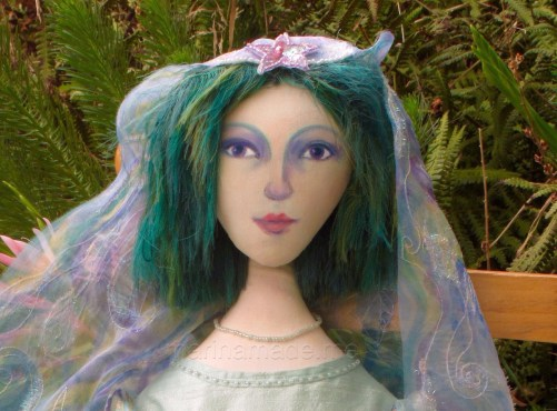 Art Muse doll by Marina Elphick, made from finest hand dyed silks and cottons.