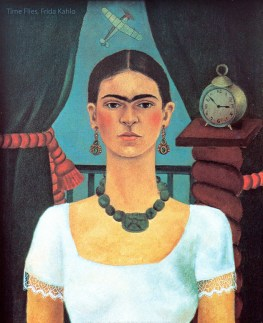 Time Flies, an early self portrait by Frida Kahlo.