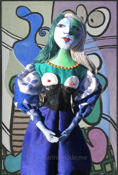 """Art Muse Marie-Thérèse, set in """" Large still Life in Blue"""" 1931, Picasso. Art muses by Marina Elphick. Picasso's muse and lover, Marie-Thérèse."""