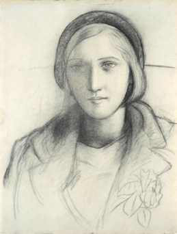 Charcoal sketch of Marie-Thérèse 1927, showing her youth and beauty. Picasso.
