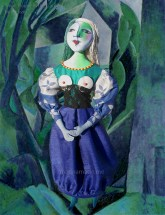 """Marie-Thérèse muse with """"small house in the garden"""", Picasso. Art muses by Marina Elphick. Picasso's muse and lover, Marie-Thérèse."""