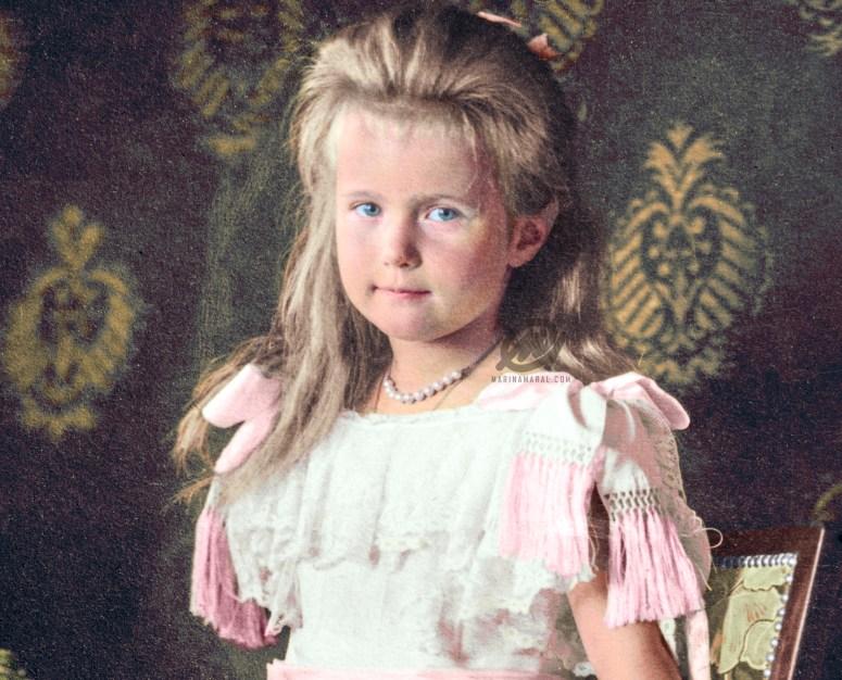 Grand Duchess Anastasia in a formal portrait taken in 1906