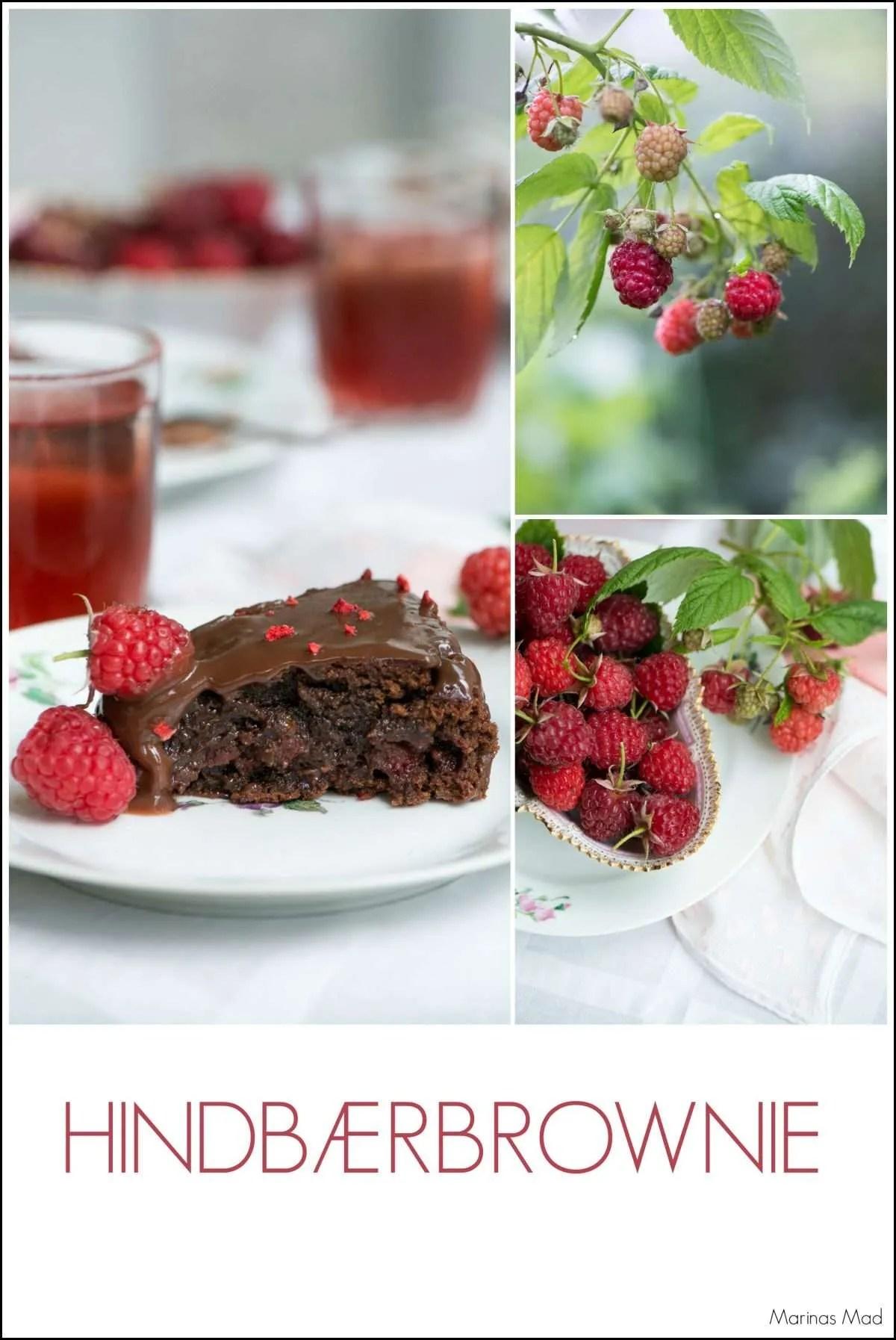 Brownie med hindbær opskrift