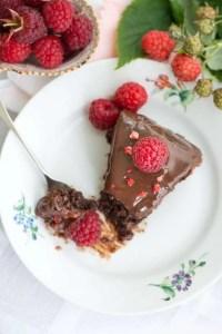 Opskrift på hindbær brownie