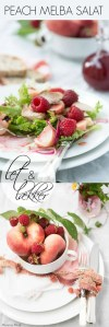Peach melba salat. opskrift