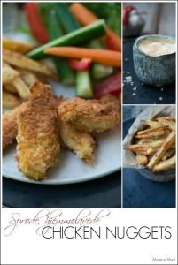 Opskrift på kyllinge nuggets