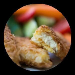 Chicken nuggets. opskrift.