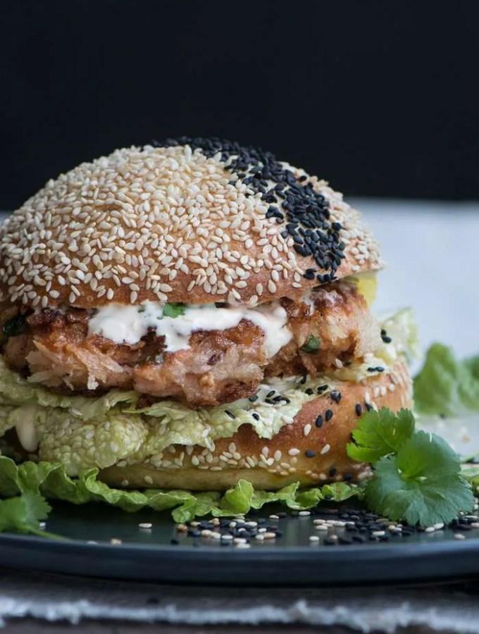 Asiatisk Lakseburger. Opskrift