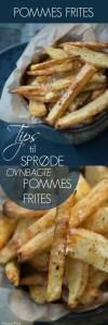 Opskrift Hjemmelavede pommes frites i ovn