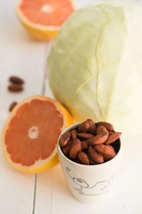 Hvidkålssalat med grapefrugt