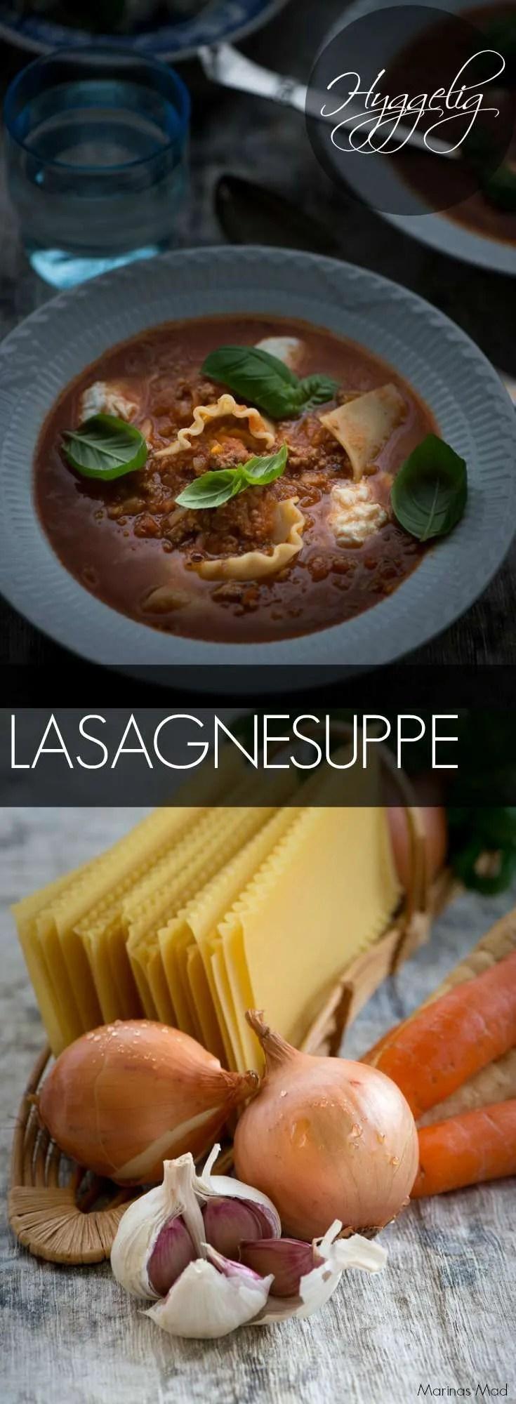 Nem og lækker lasagnesuppe er et hit hos de fleste børn. Suppen smager rent faktisk af lasagne men er meget nemmere at lave så den er rigtig god hverdagsmad. Børnevenlig opskrift fra Marinas Mad #opskrifter #aftensmad #børn #suppe #lasagne