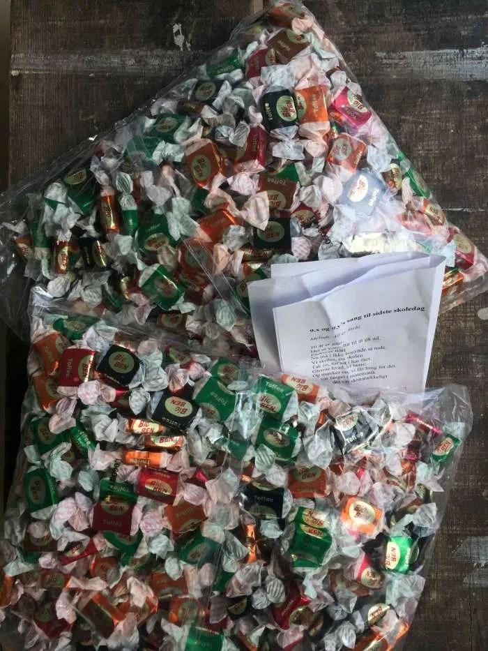 Karameller til karamelkast 9 klasse