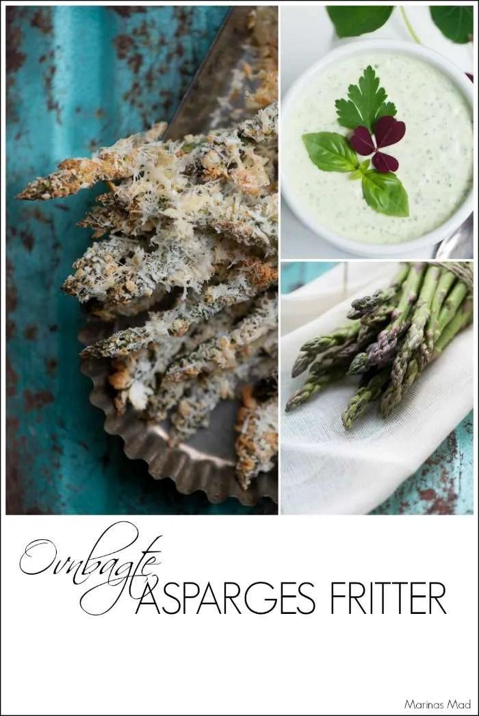 Ovnbagte asparges fritter. Opskrift