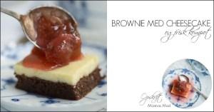 Brownie med cheesecake opskrift