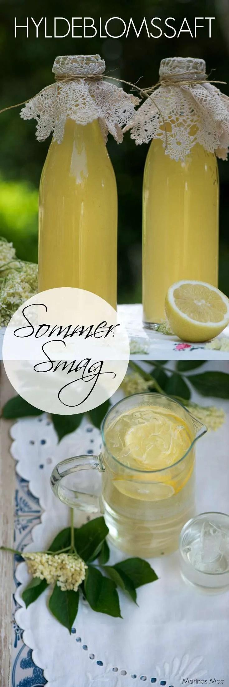 Nem og dejlig opskrift på hyldeblomstsaft. Ren sommermagi på flaske for når man drikker sådan et glas hjemmelavet saftevand med duft af hyldeblomst og frisk citron bliver man simpelthen i sommer humør. Opskrift fra Marinas Mad