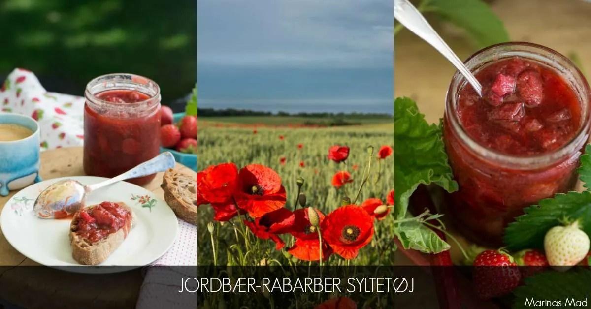 Klassisk syltetøj med jordbær og rabarber opskrift