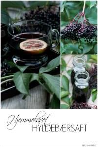 Hjemmelavet hyldebærsaft smager dejligt og er fyldt med vitaminer. Opskrift fra Marinas Mad
