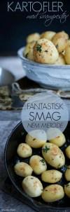 Kartofler med svampestøv. skønt til gæstemad