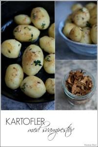 Kartofler med støv af vilde svampe. Opskrift
