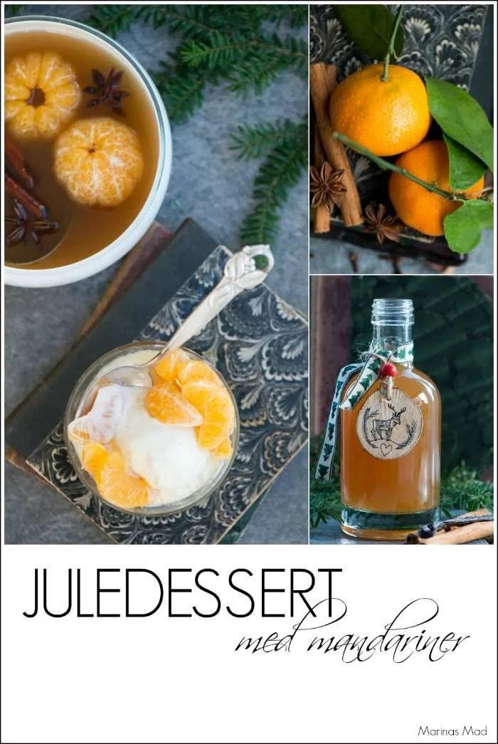 Juledessert med mandariner og julesirup