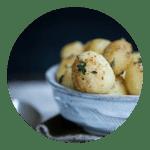 opskrift Kartofler med svampestøv