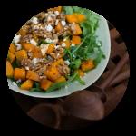 Salat med hokkaido græskar