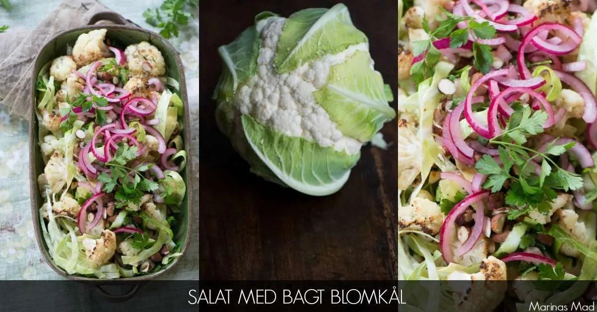 Opskrift på salat med bagt blomkål
