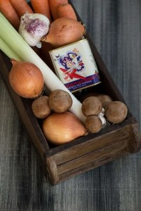 Koteletter med paprika og grøntsager