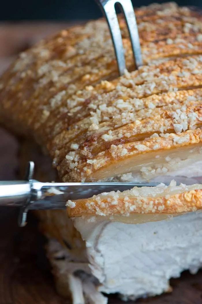 Opskrift på flæskesteg med sprøde svær fra Marinas Mad