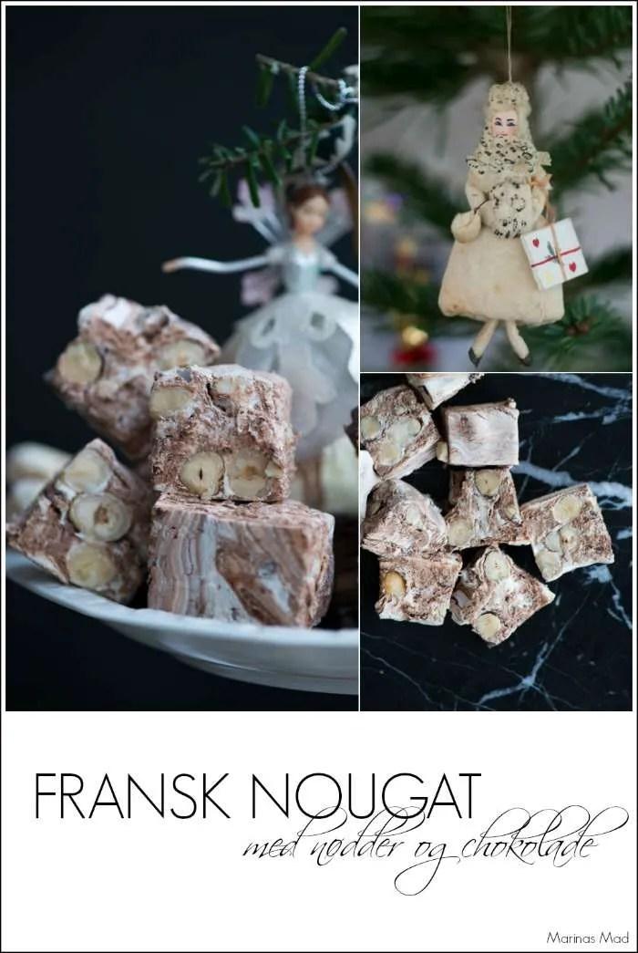 Fransk nougat med chokolade. En lækker juleopskrift fra Marinas Mad